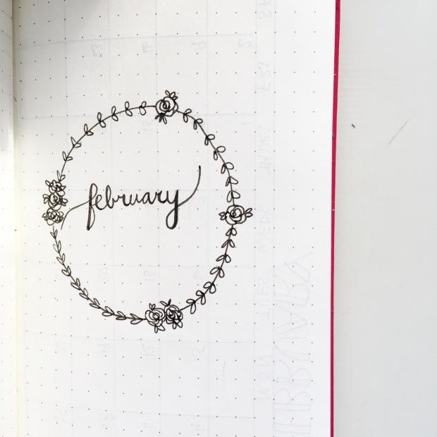 Bullet Journal February Set-Up 1